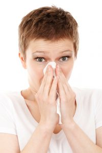 Allergy blowing nose
